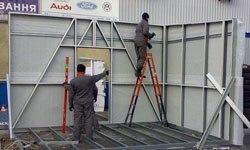 Строительство торговых павильонов в Яровое